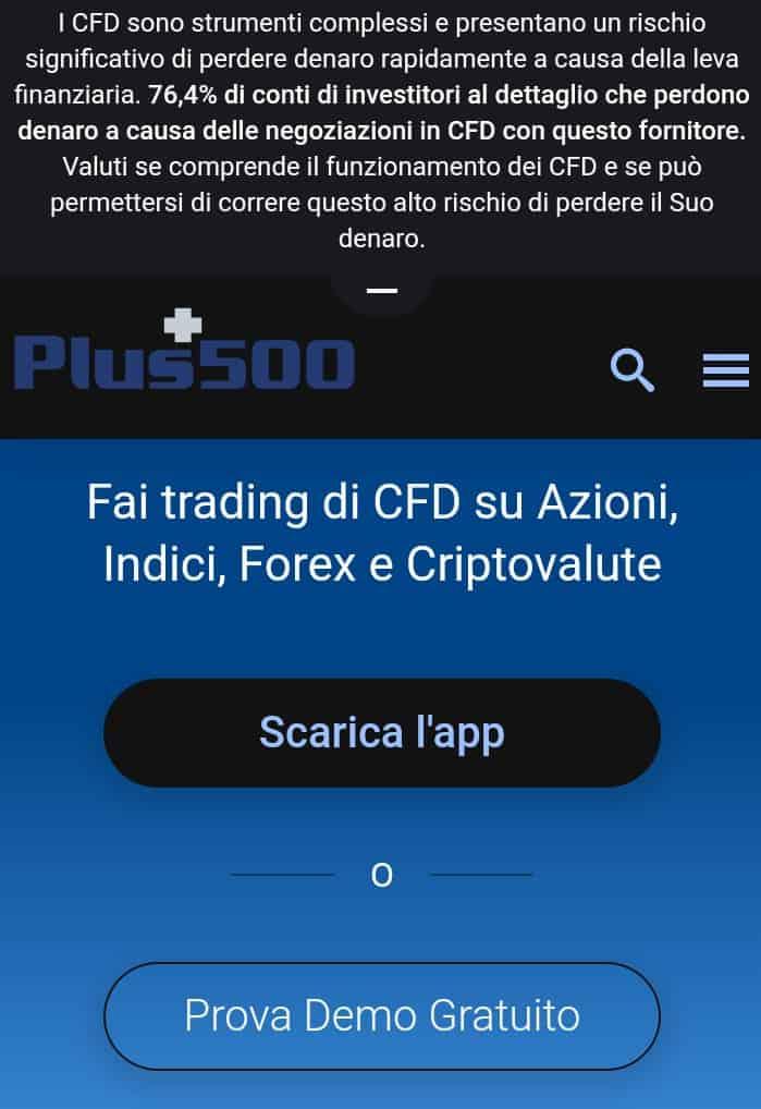 plus500 - miglior conto trading